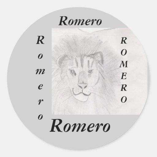 Fun sticker for name : Romero