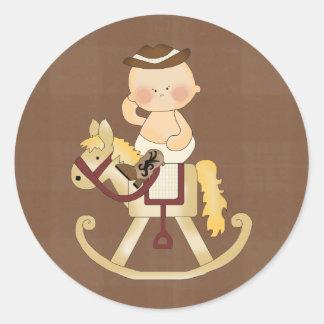 Fun Stickers Baby Cowboy Rockin Horse