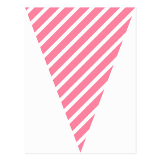 Fun Stripe Hot Pink Colorful Flag Bunting Postcard