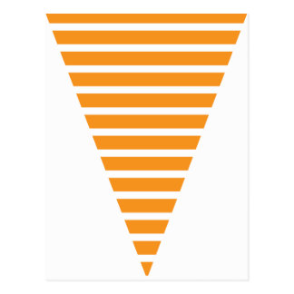 Fun Stripe Orange Colorful Flag Bunting Post Cards