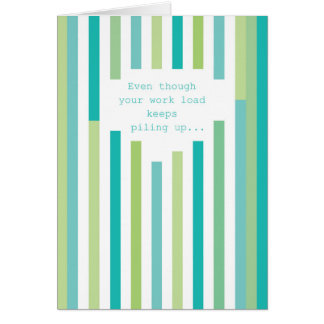 Fun Stripes Administrative Professionals Day Card