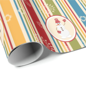 Fun Stripes and Christmas Critters Wrapping Paper