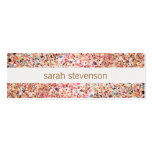 Fun Stripes Colorful Glitter Look Cute Cool Double-Sided Mini Business Cards (Pack Of 20)