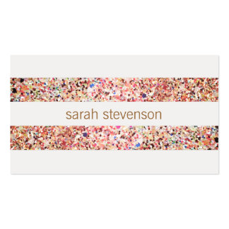 Fun Stripes Colorful Glitter Look Cute Cool Double-Sided Standard Business Cards (Pack Of 100)