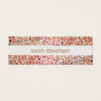 Fun Stripes Colorful Glitter Look Cute Cool Mini Business Card