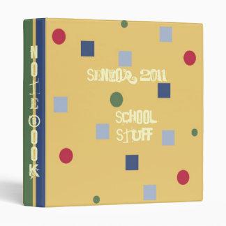 Fun! Stripes Dots School Notebook Teacher/Student Binder
