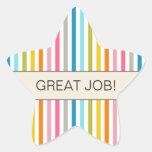 """Fun Stripes """"Great Job"""" Star Stickers for Teachers"""