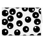 Fun stylish black and white pattern. Custom Greeting Card