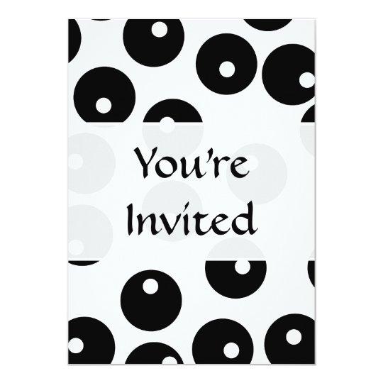Fun stylish black and white pattern. Custom Card