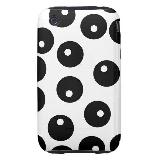 Fun stylish black and white pattern. Custom Tough iPhone 3 Case