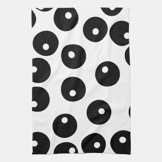 Fun stylish black and white pattern. Custom Hand Towel