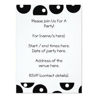 "Fun stylish black and white pattern. Custom 6.5"" X 8.75"" Invitation Card"