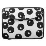 Fun stylish black and white pattern. Custom Sleeve For MacBooks