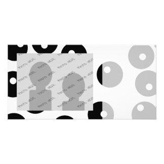 Fun stylish black and white pattern. Custom Photo Card