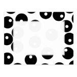 Fun stylish black and white pattern. Custom Postcard