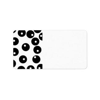 Fun stylish black and white pattern. label