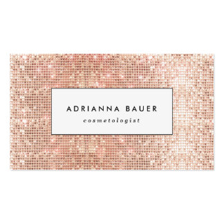 Fun Stylish Faux Copper Sequin Pattern Beauty Spa Double-Sided Standard Business Cards (Pack Of 100)