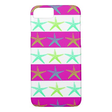 Beach Themed Fun Summer Beach Starfish iPhone 7 Case