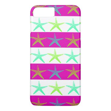 Beach Themed Fun Summer Beach Starfish iPhone 7 Plus Case