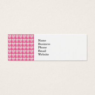 Fun Summer Birthday Hot Pink Cupcake Pattern Mini Business Card