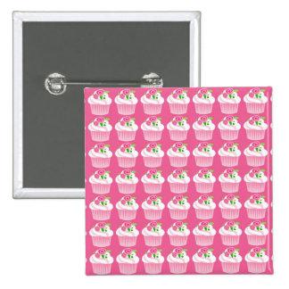 Fun Summer Birthday Hot Pink Cupcake Pattern Pin