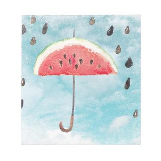 Fun Summer Fresh Melon Fruit Rain Notepad