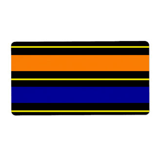 Fun Summer Primary Colors Striped Address Labels