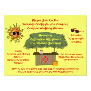 Fun Summer Tiki Hut Cookout Couples Bridal Shower 5.5x7.5 Paper Invitation Card at Zazzle