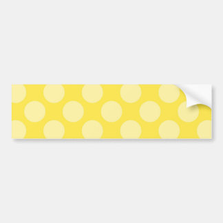 Fun Summer Yellow Polka Dots on Yellow Gifts Bumper Sticker