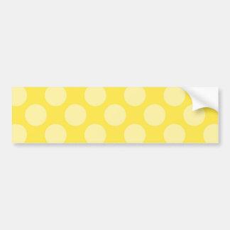 Fun Summer Yellow Polka Dots on Yellow Gifts Car Bumper Sticker