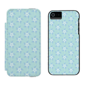 Fun Summery Pinwheels Wallet Case For iPhone SE/5/5s