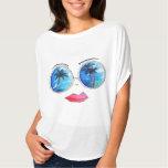Fun Sunglass Lips PoP Art Design Summer Collection T-Shirt