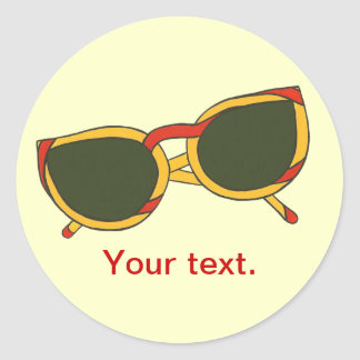 Fun sunglasses in yellow red your text stickers