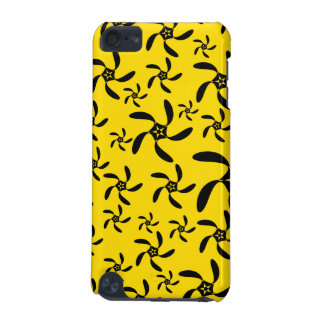 Fun sunny yellow and black flower design iPod touch 5G cases