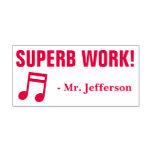 """[ Thumbnail: Fun """"Superb Work!"""" Educator Rubber Stamp ]"""