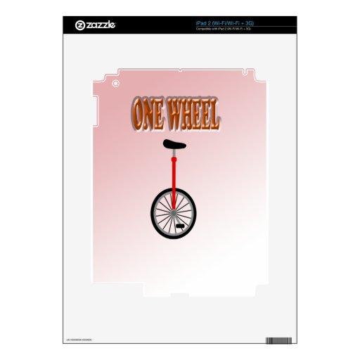 fun sweet one wheel iPad 2 decals