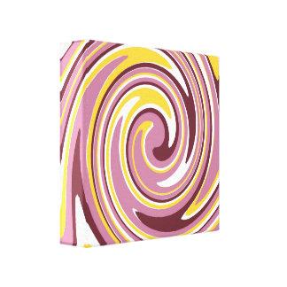 Fun Swirls Wrapped Canvas Print