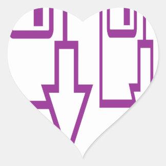 fun symbol line art circles up down round gifts heart sticker