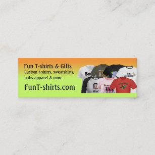 Shirt business cards zazzle fun t shirts profile card colourmoves