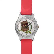 Fun Tartan / Plaid Owl #Watch #Accessory Wrist Watch