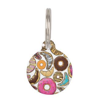 Fun Tasty Donuts Design Pet Name Tags