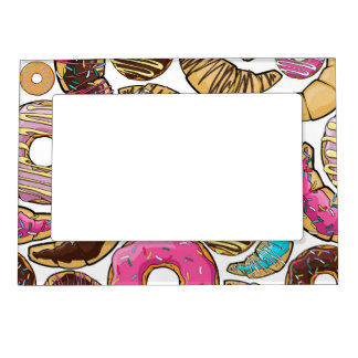 Fun Tasty Donuts Design Magnetic Frame