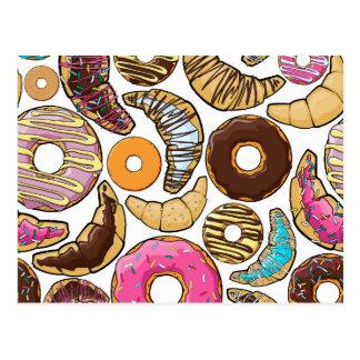 Fun Tasty Donuts Design Postcard