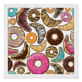 Fun Tasty Donuts Design Poster