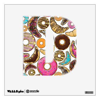 Fun Tasty Donuts Design Wall Sticker