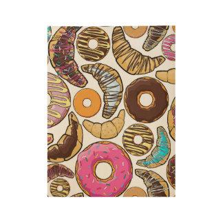Fun Tasty Donuts Design Wood Poster