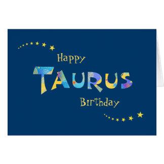 Fun TAURUS Zodiac Sign Birthday Greeting Card