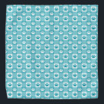 """Fun Teal Gingham with Paw Prints Bandana<br><div class=""""desc"""">Purchase it for yourself or pamper your pet with this cute and fun teal gingham with paws patterned bandana!</div>"""