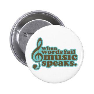 Fun Teal Music Speaks Musician Gift Button