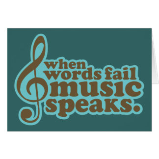 Fun Teal Music Speaks Musician Gift Card